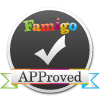 Famigo APProved badge for Puzzle Game Apps